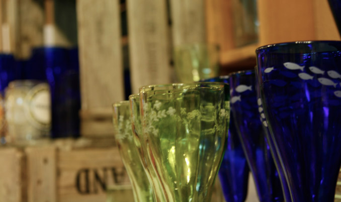 YS-Recycled-glassware-at-Eco-Mental
