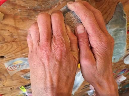 Her hands prove it.
