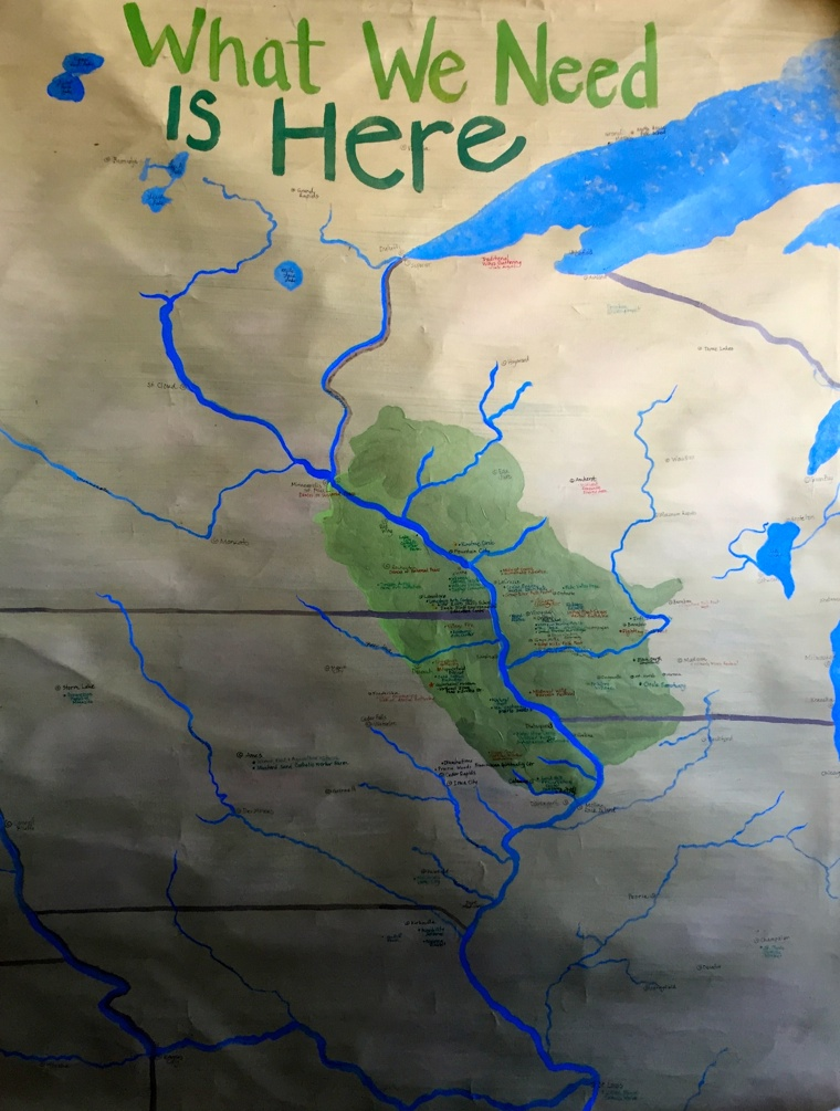 A painting depicting the Driftless region, and Liz's commitment to place.
